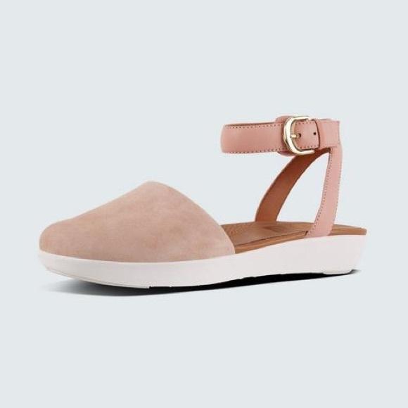 fitflop chaussures | cova fermé toe | sandale avec cheville | toe poshmark daim e2b3a1
